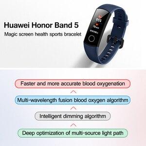 Image 2 - Original huawei honor band 5 4 inteligente pulseira de oxigênio no sangue 0.95 detect tela sensível ao toque detectar nadar postura freqüência cardíaca sono snapbracelet