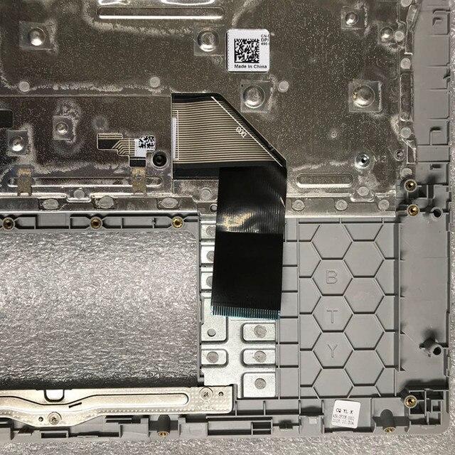 Dla nowego Dell inspiron 14 5480 5488 5485 srebrna obudowa hosta z klawiaturą 0DNF8W