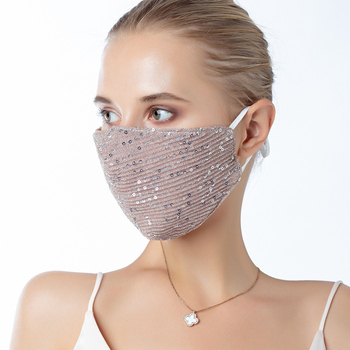 1 Pcs Adjustable Sequined Cotton Adult Mask Dustproof Anti Pollution Face Mouth Mask Reusable Fashion Breathable Fabric Mask