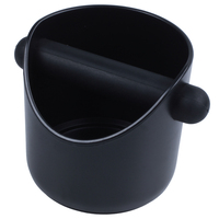Kaffee Schleifen Klopfen Box Und Espresso Dump Bin (Schwarz) Abfallbehälter Heim und Garten -