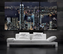 Modern Colorful Photo Picture hong kong china Room Decor Cities Canvas Art Painting Living Bedroom