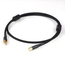 مرحبا نهاية A53 OCC النحاس النقي hifi الصوت USB كابل الربط مع موصل قابس USB مطلي بالذهب