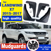 Car Mudguards Fender Mud Flaps For LANDWIND X7 2015 2016 2017 Mudflaps Splash Guards Mud Flap Front Rear Mudguards Fender for xiaomi redmi note 4x tempered glass screen film