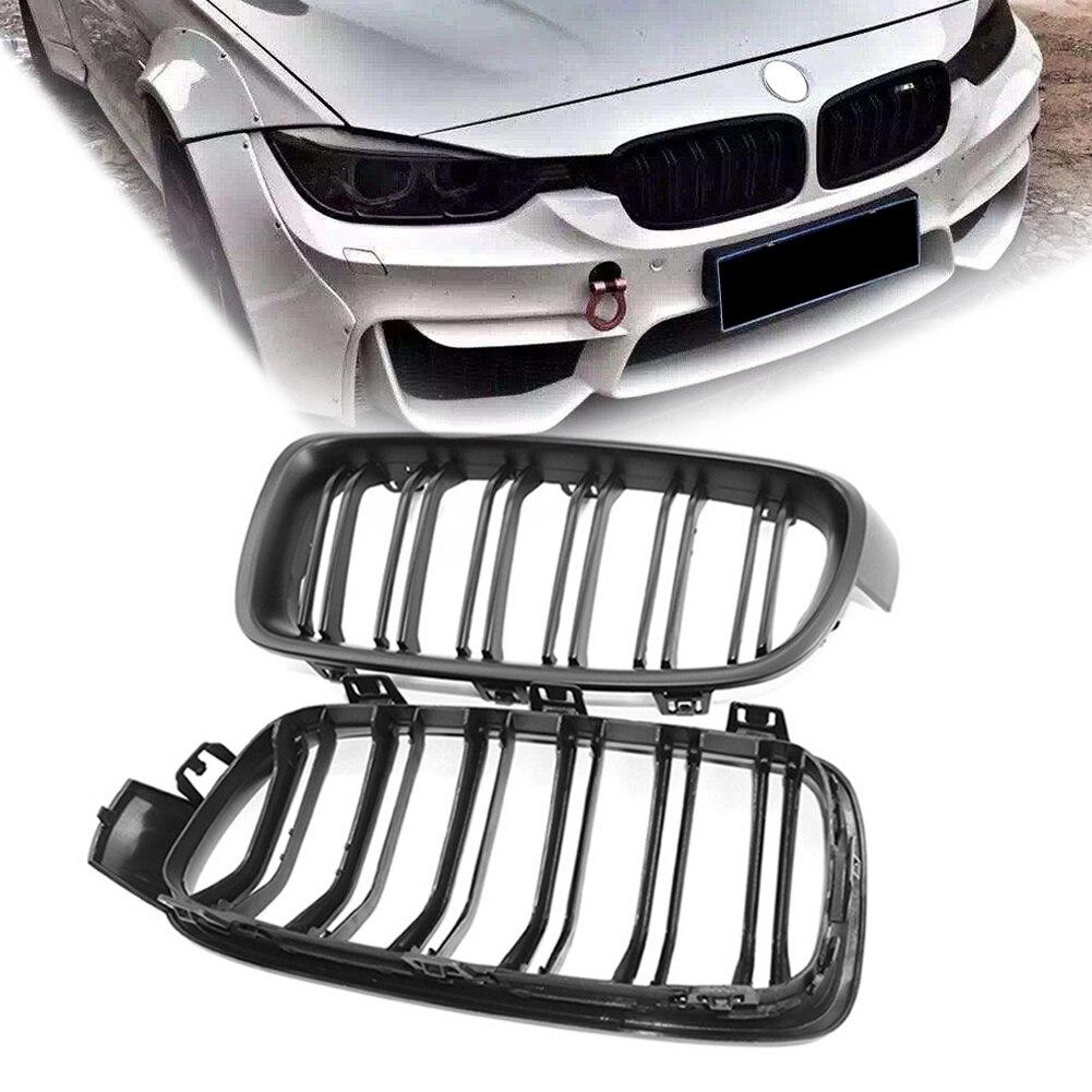 Grille de calandre avant noire mate ABS pour BMW série 3 F30 berline F31 Wagon F35 2012-2018