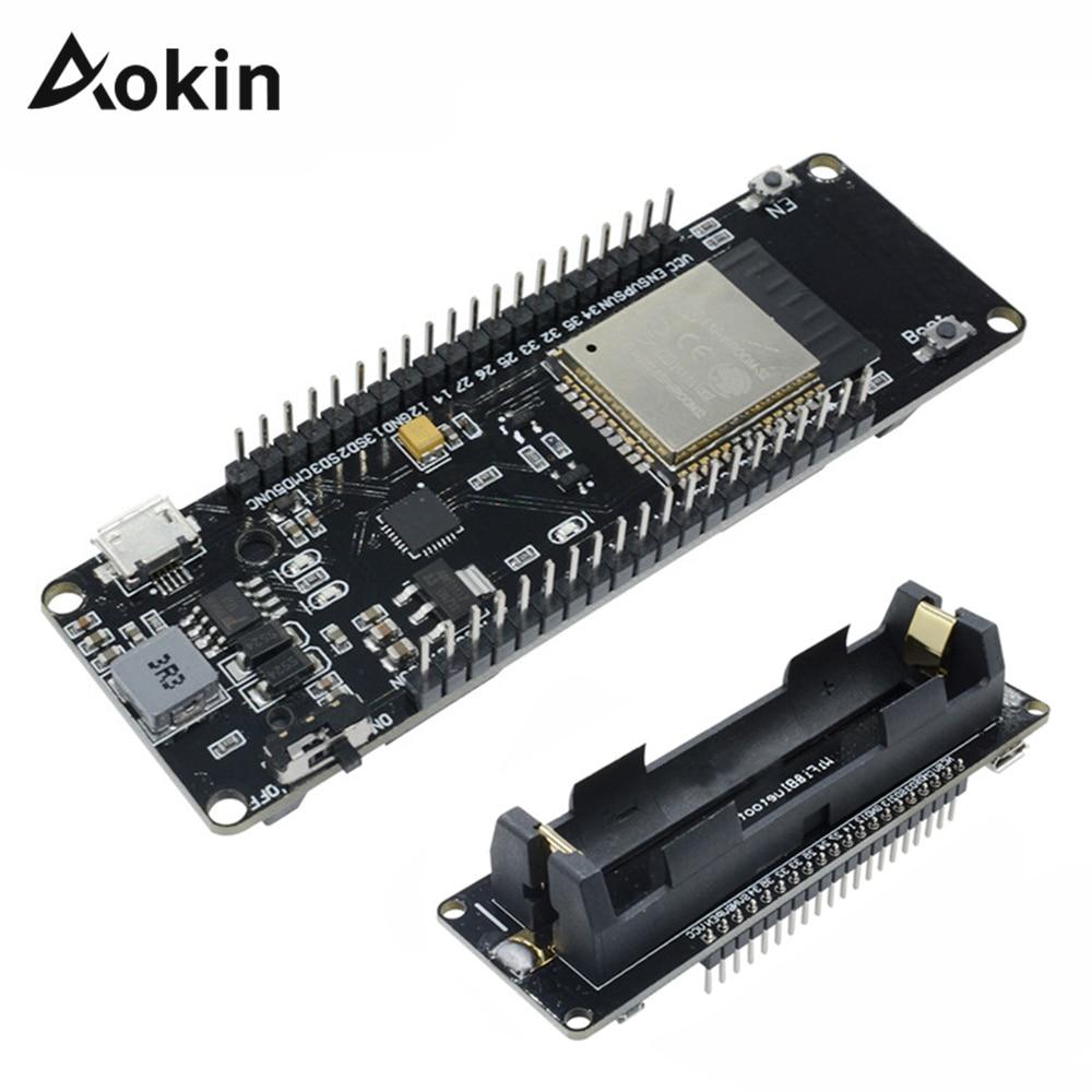 ESP8266 ESP32, для WeMos, Wi-Fi, беспроводная, Bluetooth, макетная плата, CP2102, CP2104, модуль с литиевой защитой аккумулятора 18650