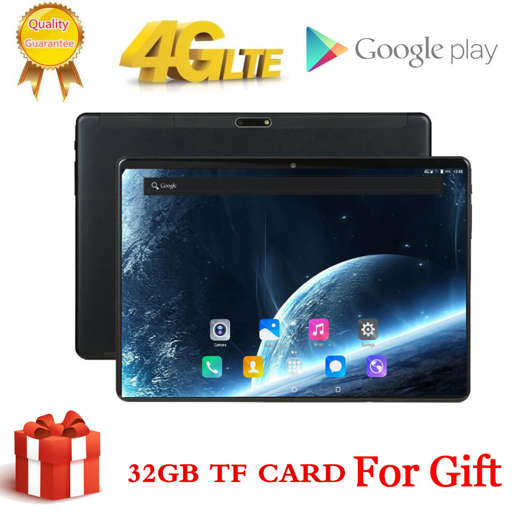 10 Inch Tablet Pc Octa Core 3GB+64GB ( 32GB +32GB Card ) 4G LteTab Phone Call Wifi GPS Bluetooth Android 7.0 9 Tablets 1920x1200