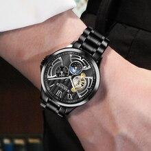 WAKNOER hommes montre mécanique de luxe de mode en acier Sport montre hommes étanche automatique montre mâle horloge Relojes Hombre 2019