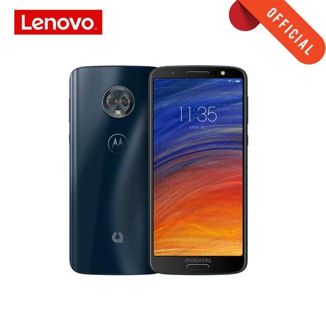 هاتف ذكي من Moto G6 مقاس 2160*1080 5.7 بوصة هاتف محمول 4 جيجابايت 64 جيجابايت أمامي 16 ميجابكسل ثماني النواة هيكل زجاجي 3000 مللي أمبير يدعم MicroSD