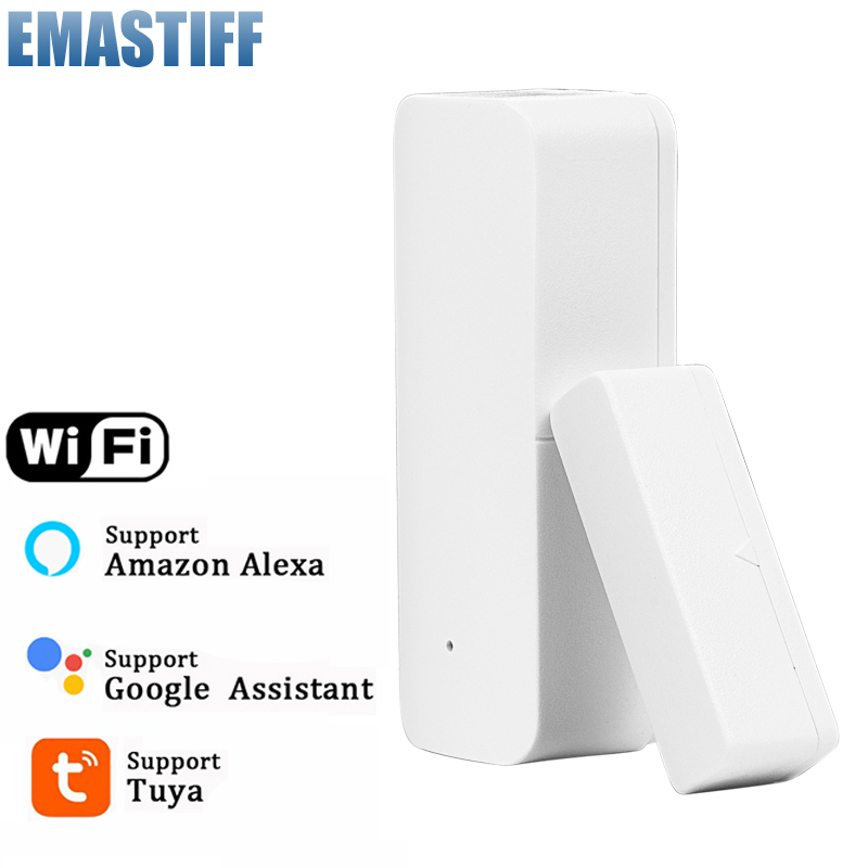 Notification Detectors Support Door-Sensor Security-Alarm Tuya Alexa Wifi-App Smart-Wifi title=