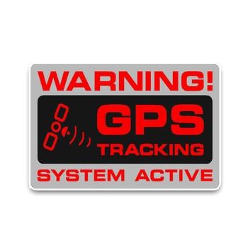 Waterproof Warning GPS Tracking Police System Car Sticker PVC Cover Scratches Bumper  KK Vinyl 12cm X 7cm