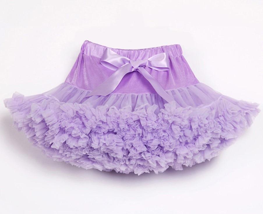 Юбка-американка для девочек; праздничная одежда на Хэллоуин; оранжевые юбки-пачки для маленьких девочек; пышная юбка-пачка для девочек; Одежда для девочек - Цвет: Лаванда