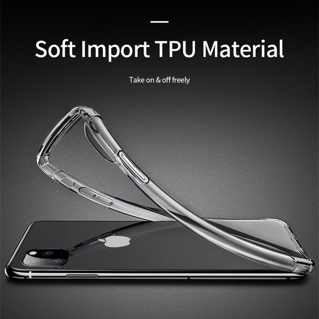 Shockproof Bumper Clear Silicone Case for iPhone 11/11 Pro/11 Pro Max 2