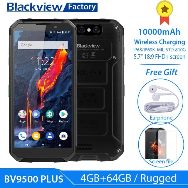 """Blackview BV9500 プラスエリオ P70 オクタコア 10000 2600mah のスマートフォン IP68 防水 4 ギガバイト + 64 ギガバイト 5.7 """"18:9 fhd nfc 携帯電話アンドロイド 9.0"""
