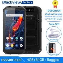 Blackview BV9500 Plus смартфон с 5,99 дюймовым дисплеем, восьмиядерным процессором Helio P70, ОЗУ 4 Гб, ПЗУ 64 ГБ, 10000 мАч, Android 5,7