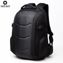 2020 ozukoファッションビジネスノートパソコンのバックパック男性の多機能防水オックスフォード旅行バックパックカジュアルスクールバッグティーンエイジャーのための