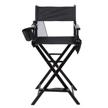 Portable Lightweight Foldable Wooden Professional Makeup Artist Directors Chair With Side Bags Beauty Tool Make-Up Accessories