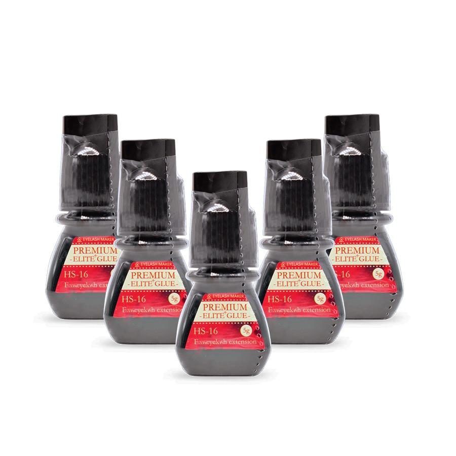 Hot Sale 5 Bottles 5g Premium Elite Plus Volume Adhesive HS-16 Glue For Eyelash Extensions