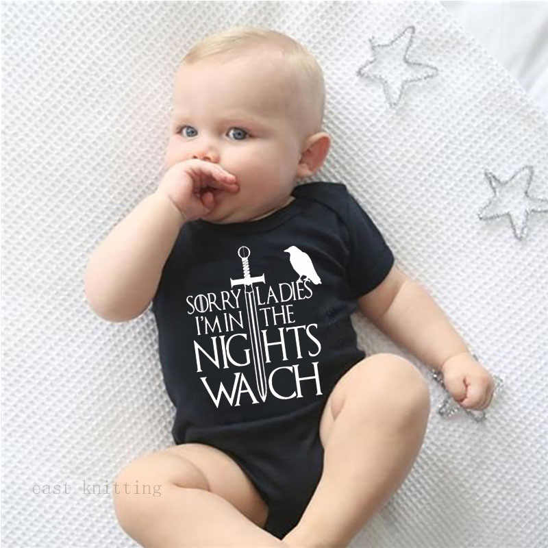 Game of thrones Funny Baby Bodysuit Newborn Baby Boys Girls Soft Jumpsuits Best unique baby gift for baby shower