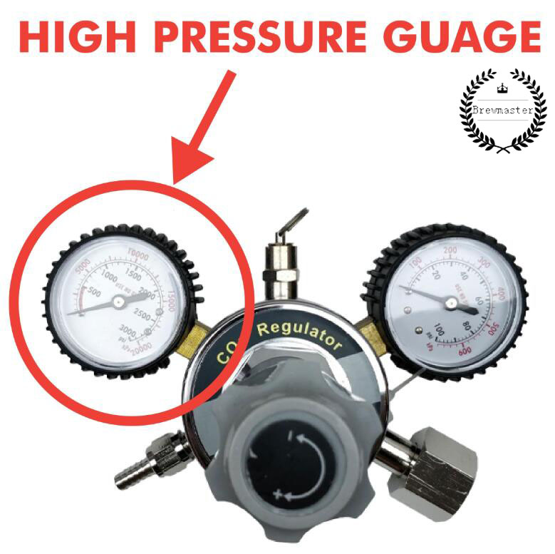 REPLACEMENT HIGH PRESSURE GAUGE FOR REGULATOR 0-3000PSI