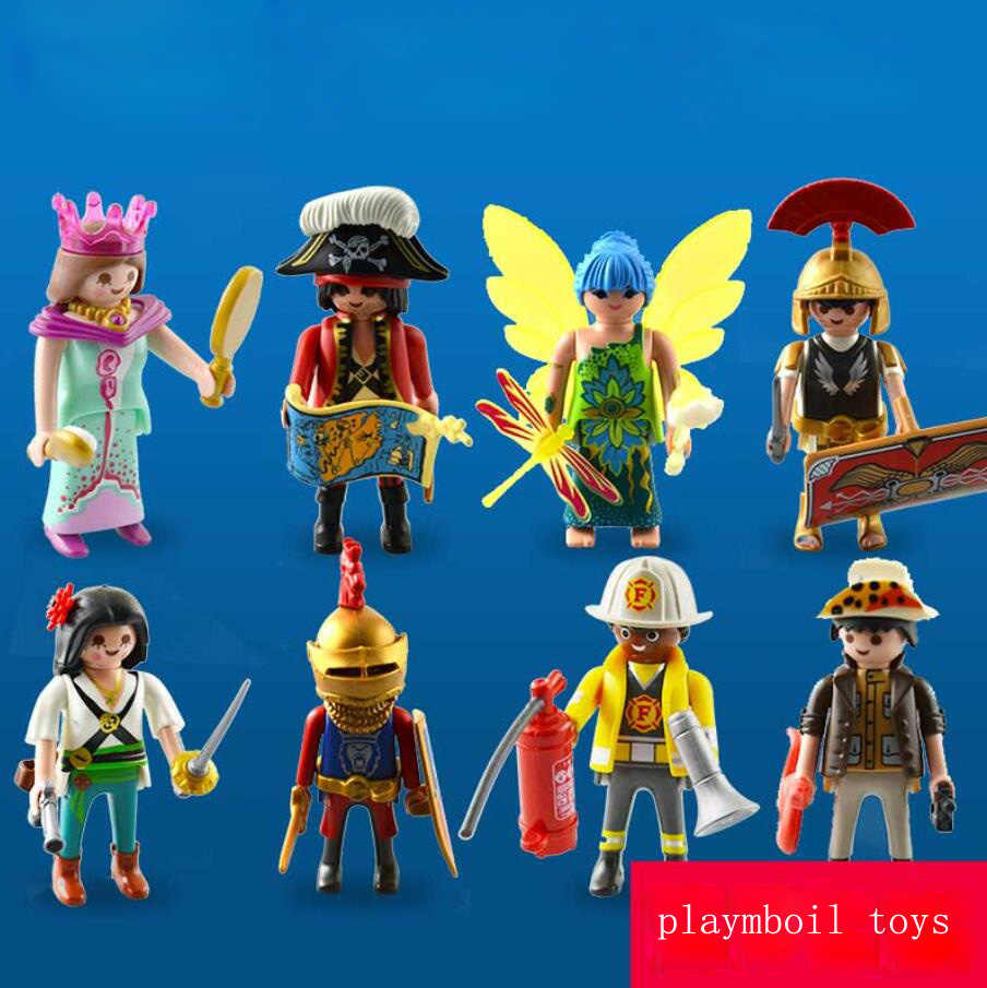 Original Playmobil Action Figure Toys Mini Figure Playmobil Police Princess Military Figurines Accessories Refills Toys