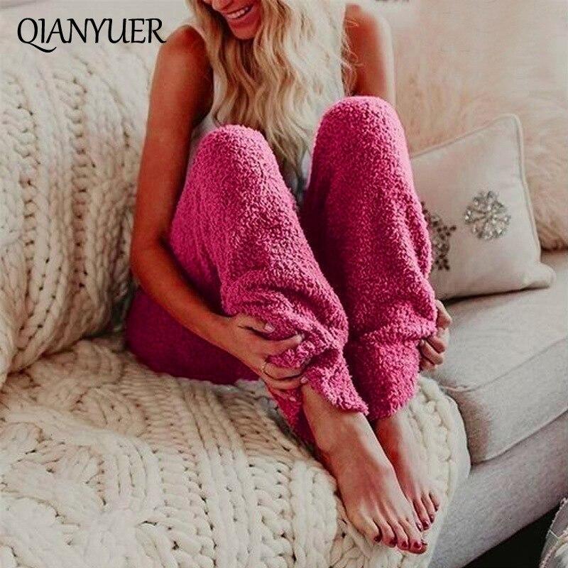 Plush Pants 2019 Autumn Women Casual Gym Sweatpants Workout Fleece Trousers Solid Thin Winter Warm Female Sport Pants