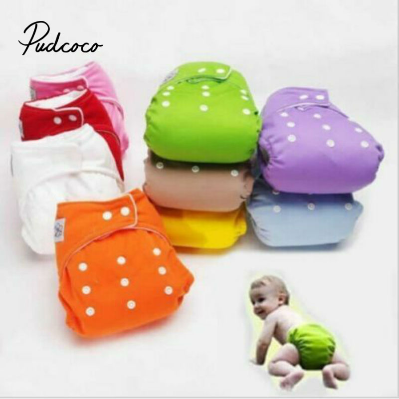 Pudcoco 2020 New Adjustable Reusable Baby Diapers Infant Boys Girls Cloth Diapers Soft Covers Washable Nappies New Years