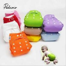 Fraldas pudcoco reutilizáveis para bebês, fraldas de pano macias e laváveis para meninos e meninas, 2020