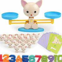 Educational Early Learning Digital Kids Plastic Balance Toy Set Scale Addition Math Home Enlightenment Cartoon Table Game