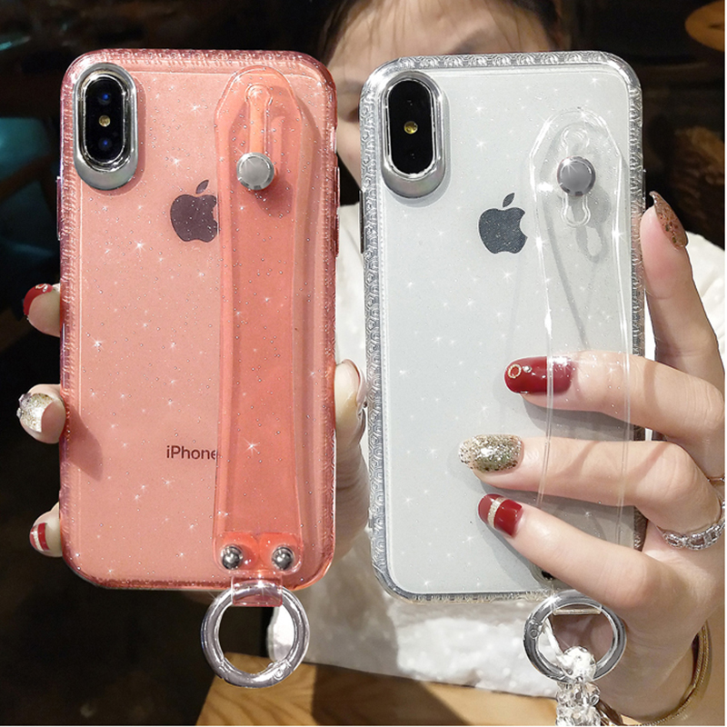 Glitter Powder Phone Case For IPhone X XR XS Max 8 7 Plus 6 6S Plus Shining Transparent