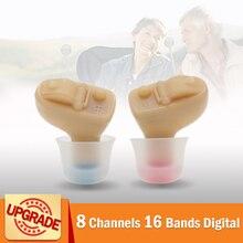 8 canais 16 bandas digital mini cic aparelho auditivo completamente invisível para dropshipping