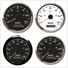 85 мм gps Спидометр 125/200 км/ч с gps антенной для мотогонок водонепроницаемый IP67 Предупреждение о превышении скорости 12 В 24 В