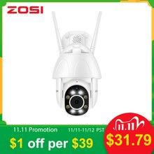 ZOSI 1080P PTZ caméra IP Wifi dôme de vitesse extérieure sans fil Wifi caméra de sécurité panoramique inclinaison 4X Zoom numérique 2MP CCTV Surveillance