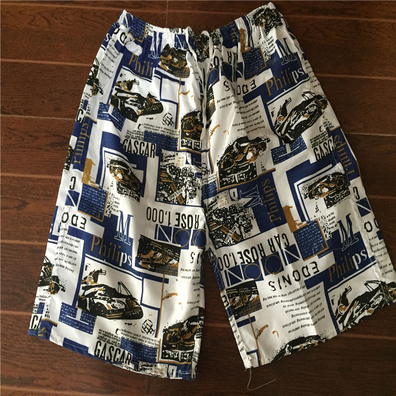 MEN'S Beach Pants Short Casual Printed Large Size Loose-Fit Quick-Dry Booth Goods Beach Rushed