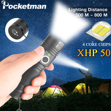 LED Flashlight Ultra Powerful XHP50.2Tactical Torch USB Rechargeable Linterna Magnetic Lamp Brightest Lantern By 18650 Battery aimihuo cree led flashlight 8000lm l2 lamp usb charging flashlight powerful camping torch lanterna led lantern for 18650 battery