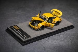 PGM 1/64 RAUH-WELT RWB 964 Begriff #23 70th Yellow Diecast Model Car