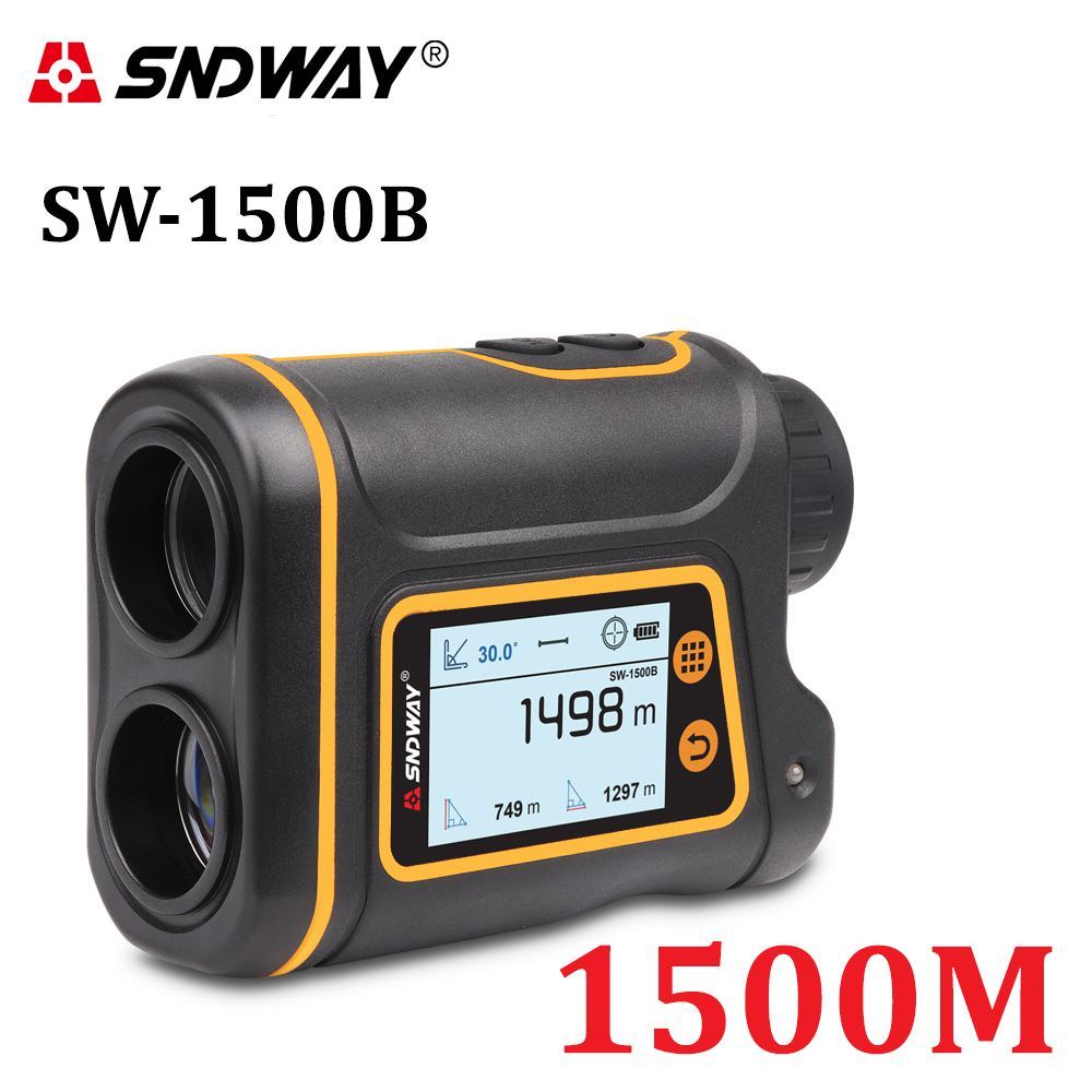 SNDWAY Telescope Laser Range Finder Digital Distance Meter Hunting Monocular Golf Rangefinder LCD Display Roulette Tape Measure