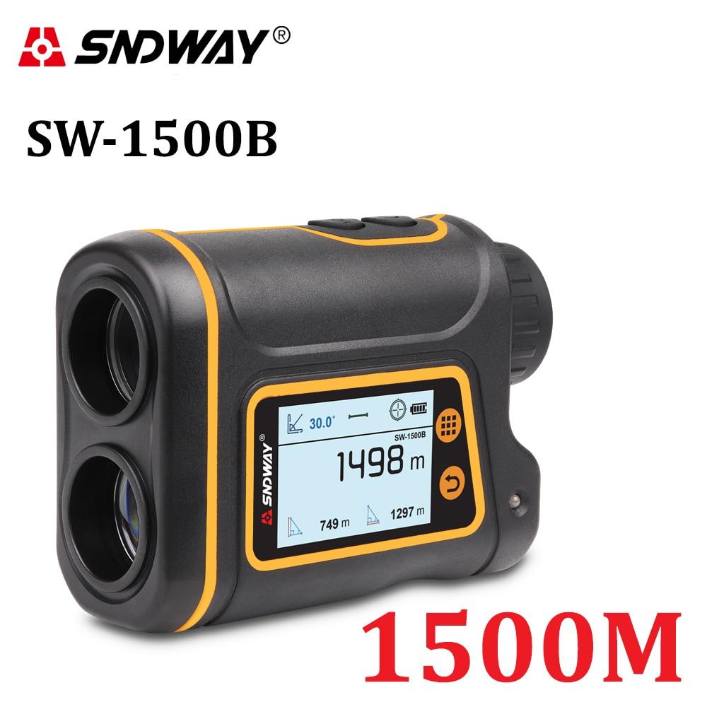 SNDWAY Telescope Laser Range Finder Digital Distance Meter Hunting Monocular Golf Rangefinder LCD Display Roulette Tape Measure