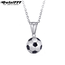 oulai777 men polishing football pendants stainless steel necklaces gifts for mens necklace male accessories 2019 Sporty style