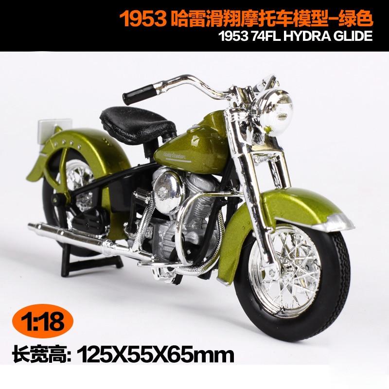 Maisto 1:18 Harley Davidson 1953 74FL HYDRA GLIDE Motorcycle Metal Model Toys For Children Birthday Gift Toys Collection