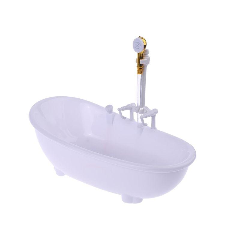1/6 Dollhouse Miniatures Electric Bathtub Furniture Bathroom Accessories Kids Pretend Toy