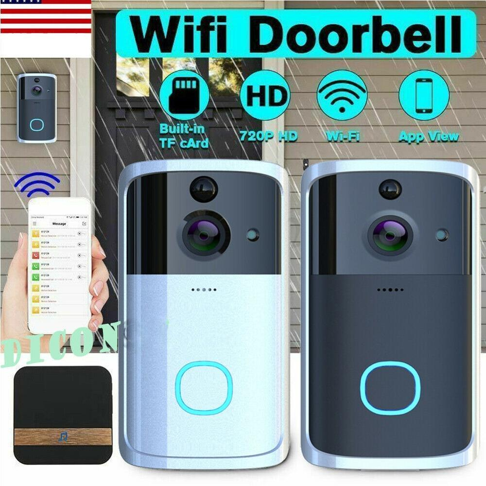 M7 WIFI Doorbell Smart Remote Photography Conversation Phone Door Bell Alarm Wireless Security Camera Infrared Night Vision