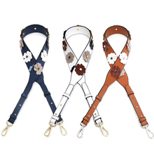 Luxury Bag Strap Women Shoulder Leather Belt 2019 New Fashion Flower Adjustable Handbag Belts Travel Crossbody Accessories Strap