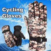 Thermal  Excellent Camouflage Print Anti-Slip Ski Gloves Tear Resistance Snowboard Gloves Waterproof   for Skiing