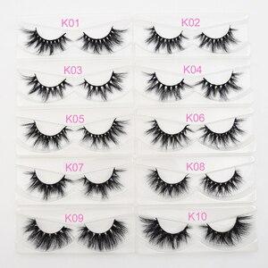 Image 2 - Visofree 25 pairs/lot Mink Lashes 3D Mink Eyelashes Cruelty free Lashes Handmade Reusable Dramatic Eyelashes Makeup False Lashes