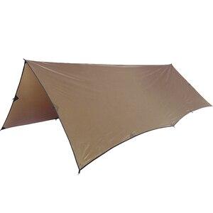 Image 2 - OneTigris 210T פוליאסטר מקלט שמש 3x4m קומפקטי תכליתי עמיד תרמילאים ברזנט חוף אוהל סוכך 100% עמיד למים