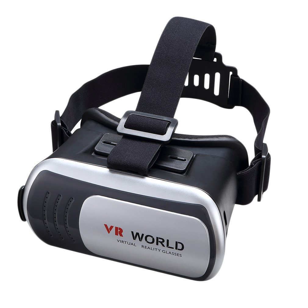 New Quality 3D Virtual Reality VR Glasses Headset Box Helmet 3D Video Glasses In stock image