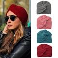Вязаный тюрбан, шапки, зимние теплые женские тюрбан в стиле бохо, кашемировая шапка с перекрестной окантовкой, индийская шапка, шерстяная вя...