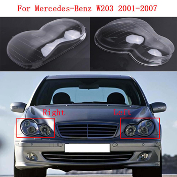 Car Front headlights transparent shell lampshade headlights glass lamp cover for Mercedes-Benz C-Class W203 2001-2007