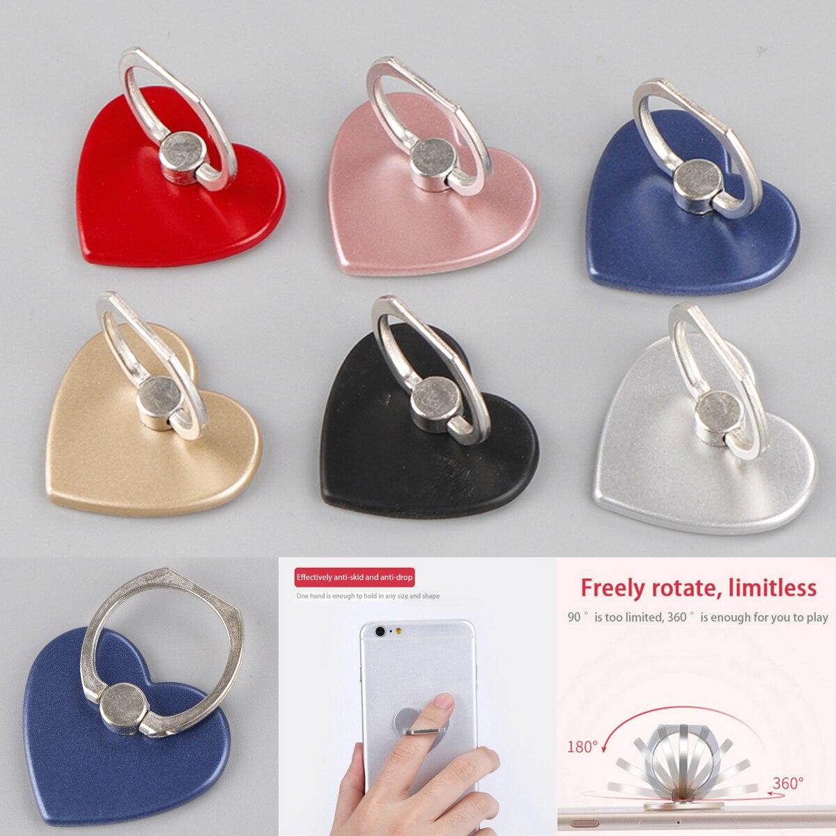 360 Degree Love Heart Phone Holder Degree Holder For Phone Ring Handset Bracket For Desktop Tablet For Samsung Huawei Xiaomi