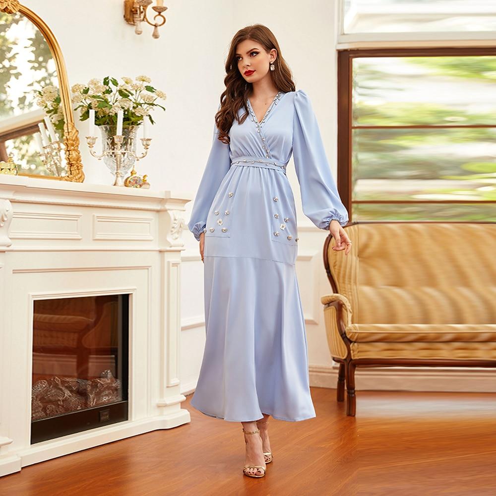 Robe Longue pour femmes musulmanes, Hijab à la mode pour Ramadan Eid Mubarak Abaya dubaï, turquie, Islam